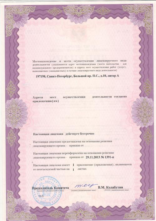Лицензия, страница №2
